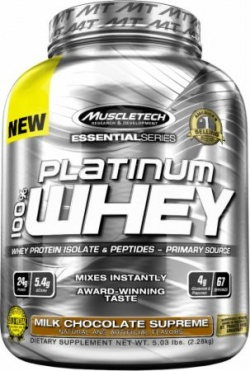 MUSCLE TECH - 100 % Platinum Whey - 2270 g