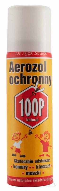 100P, aerozol ochronny przeciw komarom, kleszczom i meszkom, 75 ml