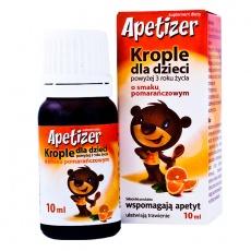 Apetizer, krople, smak pomarańczowy, 10 ml