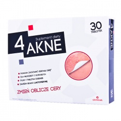 4 Akne, tabletki na trądzik pryszcze,30 tabletek