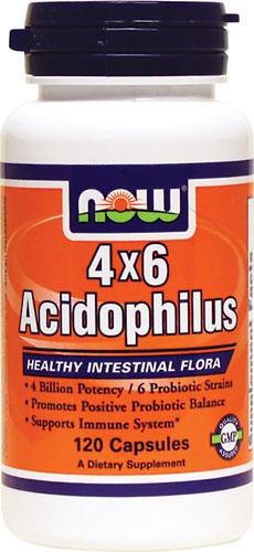 4x6 Acidophilus, 120 kapsułek