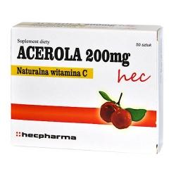 Acerola 200 mg, tabletki, 50 szt