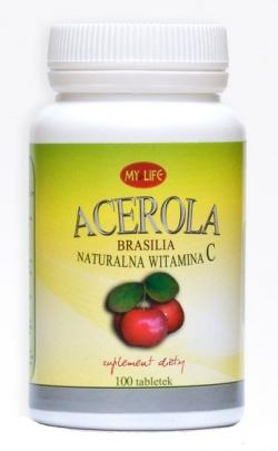 Acerola C Brasilia, tabletki naturalna witamina C, 100 szt