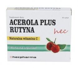 Acerola Plus Rutyna hec, tabletki, 50 szt