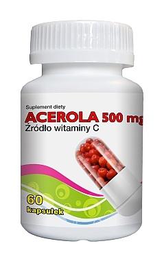 Acerola z witaminą C, kapsułki, 60 szt