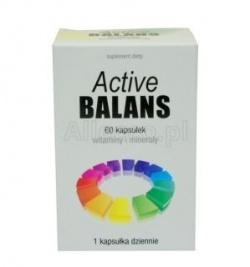 Active Balans to środek, który  jest supelementacja codziennej diety w witaminy i minerały