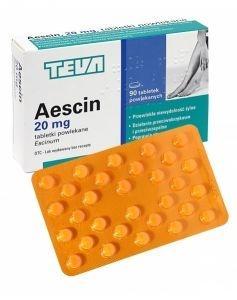 Aescin 20 mg 90 tabletek