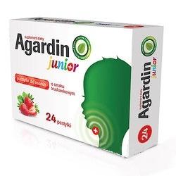 Agardin Junior, pastylki do ssania, o smaku truskawkowym, 24 szt