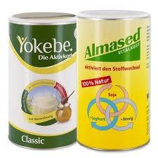 Almased + Yokebe zestaw koktajli odchudzających (2 x 500 g)