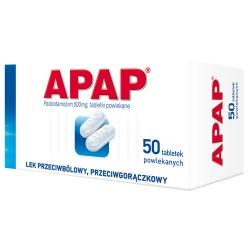 Apap, tabletki powlekane, 500 mg, 50szt