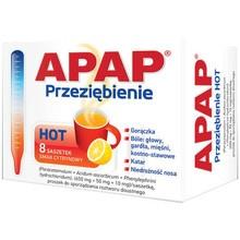 Apap Przeziębienie HOT, proszek do sporządzania roztworu doustnego, 8 saszetek