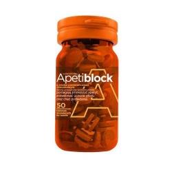 Apetiblock pomarańcz-limonka x 50 tabletek musujących do ssania, tabletki, 50 sztuk