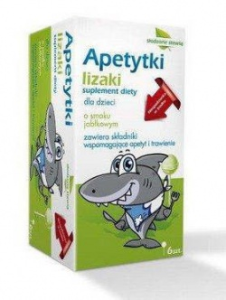 Apetytki Lizaki, smak jabłkowy, 6 szt