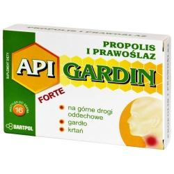 Api-Gardin Forte Propolis i prawoślaz, pastylki do ssania, 16 szt