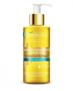 Bielenda, Argan Cleansing Face Oil, Olejek arganowy do mycia twarzy z kwasem hialuronowym, 140ml