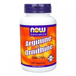NOW - Arginine & Ornithine - 100 kaps