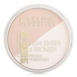 eveline-art-professional-make-up-glam-podwójny puder rozświetlający