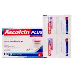 Ascalcin Plus o smak malinowy, proszek musujący, 10 saszetek