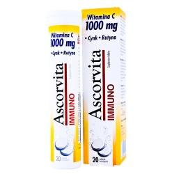Ascorvita 1000 mg Immuno, 20tabletek