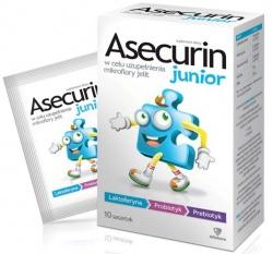 Asecurin Junior, proszek, 2,6 g, 10 saszetek