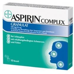 Aspirin Complex, 500 mg+30 mg, granulat, zawiesina doustna, 10 saszetek