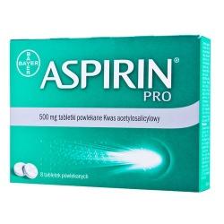 Aspirin Pro, 500 mg, tabletki powlekane, 80 szt