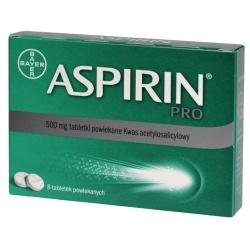 Aspirin Pro, 500 mg, tabletki powlekane,  8 szt
