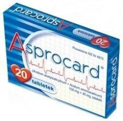 Asprocard, 20 tabletek