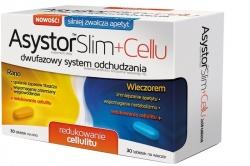 Asystor Slim Cellu, 60 tabletek (30 żółtych tabletek na dzień + 30 niebieskich tabletek na wieczór)