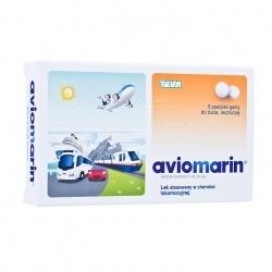 Aviomarin guma do żucia lecznicza