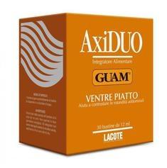 Axiduo Ventre Piatto, Roślinno-algowy koncentrat do picia na płaski brzuch, 30 saszetek x 12 ml