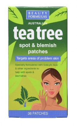 Beauty Formulas, plastry na krosty i plamy, Tea Tree, 36 szt