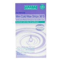 Beauty Formulas, plastry do depilacji, Mini Cold Wax Strips, 36 szt