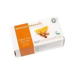 Bentley Organic, Naturalne Odżywiające Mydło z Cynamonem, Słodką Pomarańczą i Goździkami, 150g