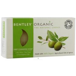 Bentley Organic,Naturalne, Głęboko Oczyszczające Mydło z Oliwek, Olejku Herbacianego i Eukaliptusa, 150g