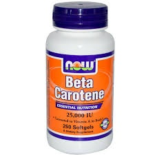 NOW - Beta Carotene 25000 - 100 softgels