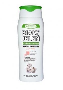 Hipoalergiczny szampon do włosów BIAŁY JELEŃ z czystą bawełną, 300 ml