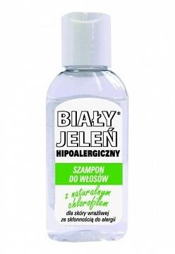 Hipoalergiczny szampon BIAŁY JELEŃ z naturalnym chlorofilem, 50 ml