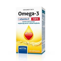 Biotter Omega-3 + Witamina E Forte, 60 kapsułek
