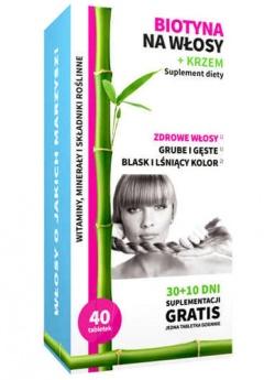 Biotyna na włosy + Krzem, 40 tabletek