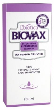 Biovax szampon włosy ciemne