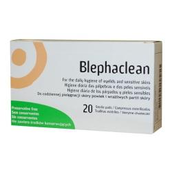 Blephaclean, chusteczki hipoalergiczne do higieny powiek, 20 szt