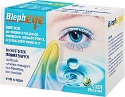 Blepheye, chusteczki do pielęgnacji okolic oczu, 18 szt