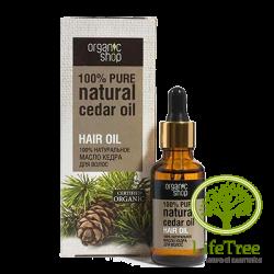 Organic shop, organiczny olejek cedrowy do pielęgnacji włosów, 30ml