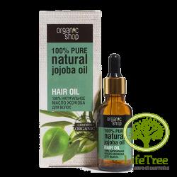 Organic shop, olejek jojoba do pielęgnacji skóry i włosów, 30ml