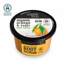 Organic shop, Delikatny scrub do ciała Sycylijska Pomarańcza, 250ml