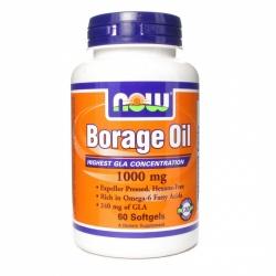 Borage Oil, olej z ogórecznika 1000mg, 60kapsułek