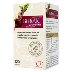 Burak czerwony, tabletki, (Colfarm), 120 szt