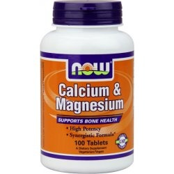NOW - Calcium and Magnesium - 100 tabl