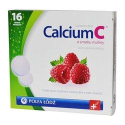 Calcium C, o smaku maliny, tabletki musujące, 16 szt
